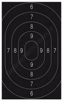 Militairy pistol target 1 pcs