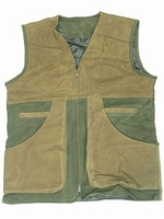 WHD leather for hunting / skeet vest green size 4XL